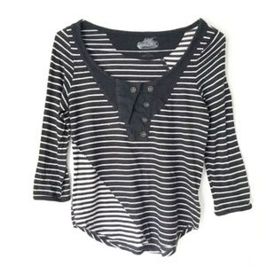 Anthro Pilcro and the Letterpress Striped Tee M